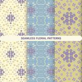 Set of beautiful floral patterns with floral and botanical elements royalty free illustration