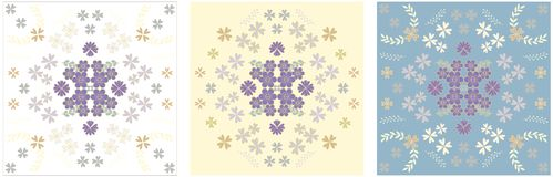Set of beautiful flower cards with the image of flowers in pastel shades vector illustration