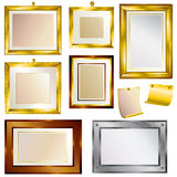 Set of beautiful frames Stock Photography