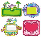 Set of beautiful frames Royalty Free Stock Image