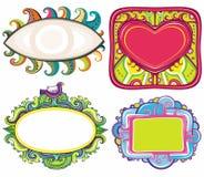 Set of beautiful frames Stock Photos
