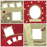 Set of beautiful frames for scrapbooking Royalty Free Stock Image