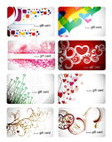 Set of beautiful gift card Royalty Free Stock Photo