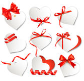 Set of beautiful gift cards royalty free illustration