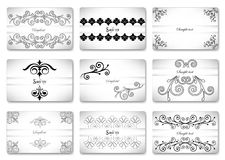 Set beautiful gift ornamental card. Vector Royalty Free Stock Photo