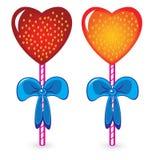 Set of beautiful heart shaped candies Stock Photo