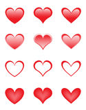 Set of the beautiful hearts Royalty Free Stock Image