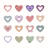 Set of beautiful hearts Royalty Free Stock Photos