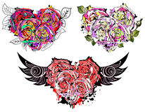 Set of beautiful hearts. Stock Image