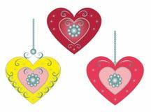 Set Beautiful hearts.Vector illustration Stock Photos