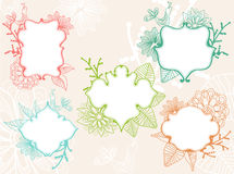 Set of beautiful labels. With floral elements Royalty Free Stock Image