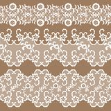 Set of beautiful lace  trims Stock Photo