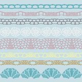 Set of beautiful lace  trims Royalty Free Stock Photography