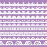 Set of beautiful lace vector trims Stock Photos