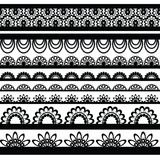 Set of beautiful lace vector trims Stock Photography