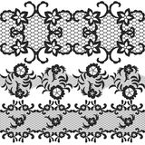 Set of beautiful lace vector trims Stock Image
