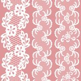 Set of beautiful lace vector trims Royalty Free Stock Image