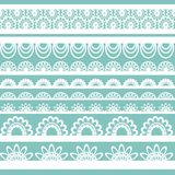 Set of beautiful lace vector trims Royalty Free Stock Photography