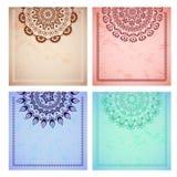 A set of beautiful mandalas and lace circles Royalty Free Stock Photo
