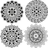 Set of beautiful mandalas. Stock Photos