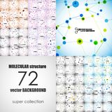 Set of beautiful molecular structure Royalty Free Stock Images