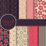 Set of beautiful papers Royalty Free Stock Photos