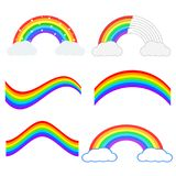 Set of beautiful rainbow illustration. Vector icon. vector illustration