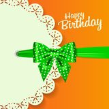 Set of beautiful retro cards with colorful gift bows with ribbons. Vector illustration. stock illustration