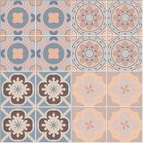 Set with Beautiful seamless ornamental tile background vector illustration Royalty Free Stock Image