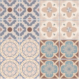 Set with Beautiful seamless ornamental tile background. Vector illustration Stock Images