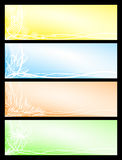 Set beautiful seasonal banners. Vector set from four beautiful floral seasonal banners Royalty Free Stock Image