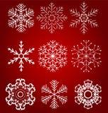 Set of beautiful snowflakes vector illustration Stock Photo