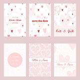 Set of beautiful templates for invitations and cards Stock Image