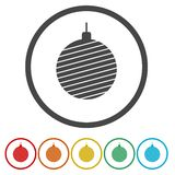 Set of beautiful vector colorfull christmas ornaments stock illustration