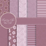 Set of Beautiful Vector Paper for Scrapbook Royalty Free Stock Images