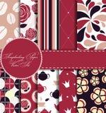 Set of Beautiful Vector Paper for Scrapbook Stock Images