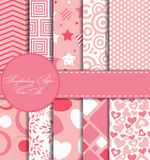 Set of Beautiful Vector Paper for Scrapbook Royalty Free Stock Photography