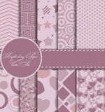 Set of Beautiful Vector Paper for Scrapbook Royalty Free Stock Image