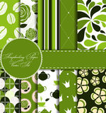 Set of Beautiful Vector Paper for Scrapbook Stock Photos
