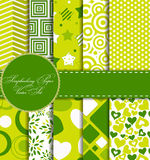 Set of Beautiful Vector Paper for Scrapbook Royalty Free Stock Photo