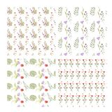 Set of beautiful wallpaper with flower ornament. Set of beautiful light wallpaper with flower ornament. Cute seamless pattern with floral elements. Fashion print stock illustration