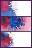 A set of beautiful watercolor backgrounds Stock Image