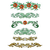 Set of beautiful watercolor banners. With flowers Royalty Free Stock Photo