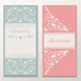 Set of beautiful wedding invitations. Stock Images