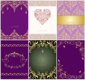 Set of beautiful wedding vintage invitations Royalty Free Stock Images