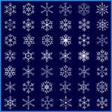 Set of beautiful white snowflakes Royalty Free Stock Photography