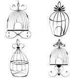 Set of Beautiful wrought iron cages Royalty Free Stock Photos