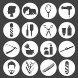 Set of beauty hair salon or barbershop accessories icons. Vector illustration Royalty Free Stock Photography