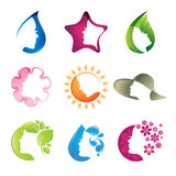 Set of beauty icons Royalty Free Stock Images