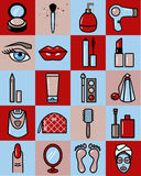 Set of Beauty Icons Stock Image